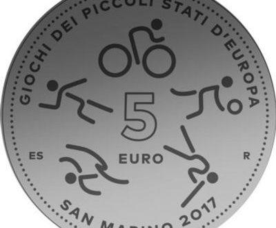 San Marino, 5 euro 2017 per i Giochi dei piccoli stati
