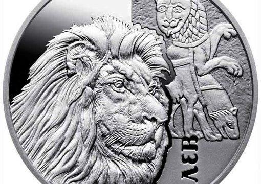 Ucraina, 5 hryvnia 2017 per il leone nel medioevo