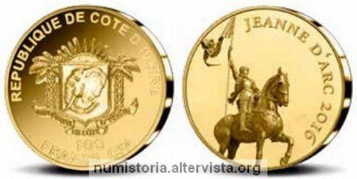 Costa d'Avorio, una moneta in oro per Giovanna d'Arco