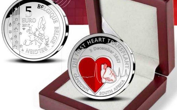 Belgio, 5 euro 2017 per il primo trapianto di cuore