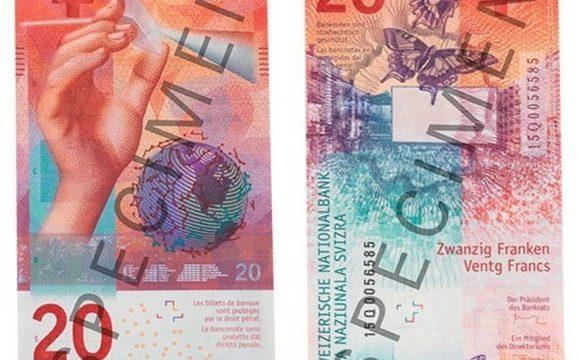 Svizzera, ecco la nuova banconota da 20 franchi