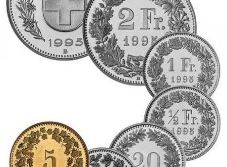 Svizzera, tiratura monete ordinarie 2018