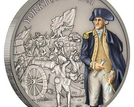 Niue, una moneta per la battaglia di Yorktown