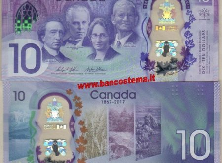 Il Canada festeggia i suoi 150 anni con un banconota