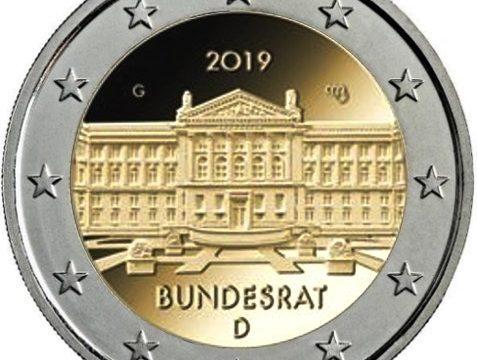 Germania, 2 euro commemorativo 2019 per il Bundesrat