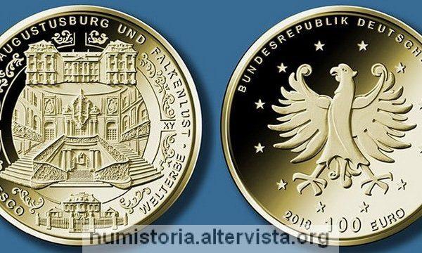 Germania, 100 euro 2018 per i castelli di Brühl