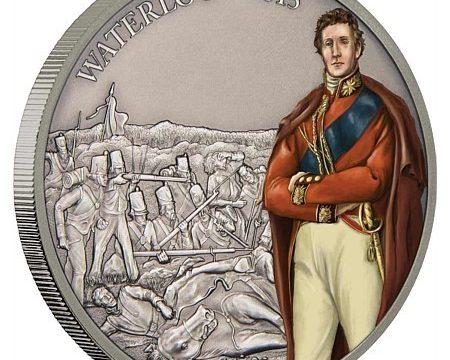 Niue, una moneta per la battaglia di Waterloo