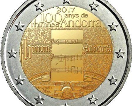Andorra, 2 euro commemorativo 2017 per l'inno nazionale