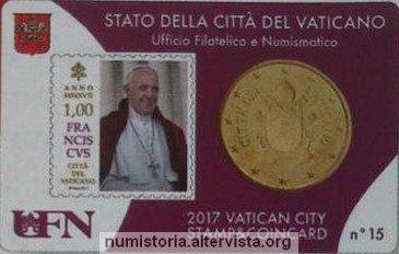 Vaticano, ecco le quattro stamp&coincard 2017