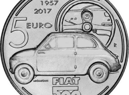 Una moneta per i 60 anni della Fiat 500