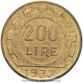 La moneta da 200 lire compie 40 anni