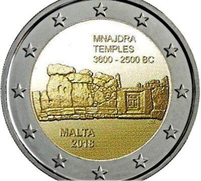 Malta, 2 euro commemorativo 2018 per il tempio di Menaidra