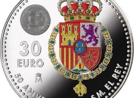 Spagna, 30 euro 2018 per i 50 anni del re