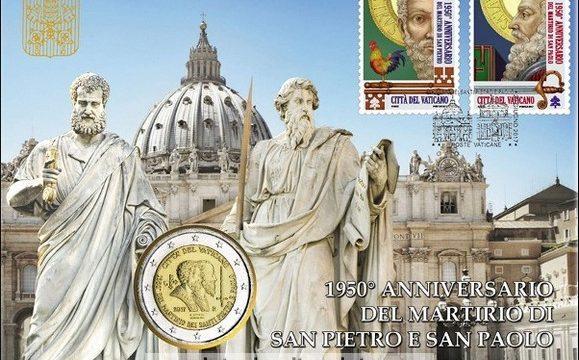 Vaticano, due buste filatelico-numismatiche 2017
