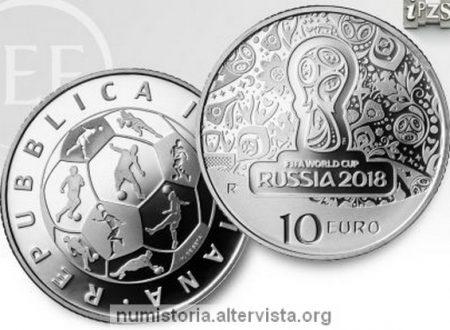 Italia, 10 euro 2018 per i mondiali di calcio