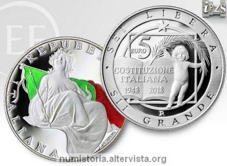 Italia, 5 euro 2018 per la Costituzione