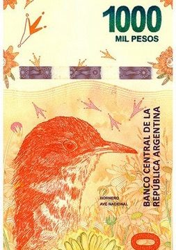 Argentina, banconota per il fornaio rosso