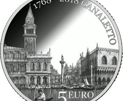 San Marino, 5 euro 2018 per Canaletto