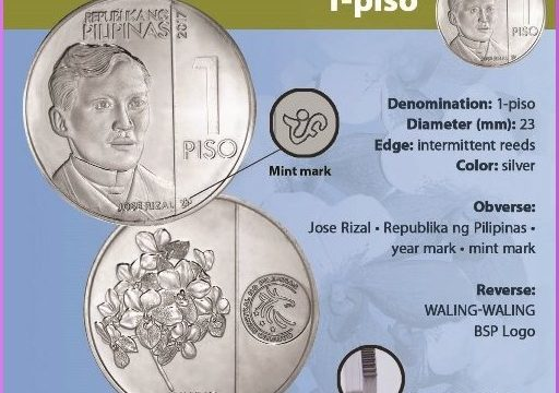 Le Filippine rinnovano le monete ordinarie