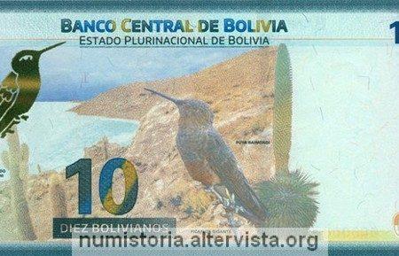 Bolivia, nuova banconota da 10 bolivianos