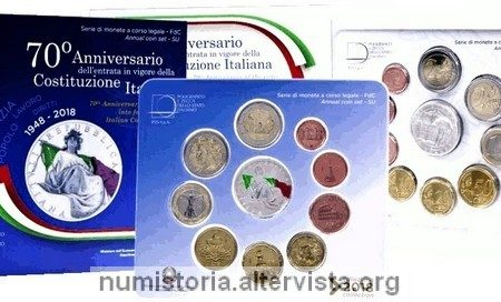 Italia, serie divisionale 2018 per la Costituzione
