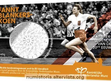 Paesi Bassi, moneta per l'atleta Fanny Blankers-Koen