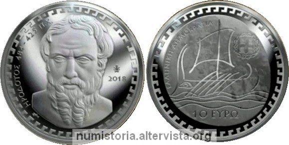 Grecia, 10 euro 2018 per Erodoto
