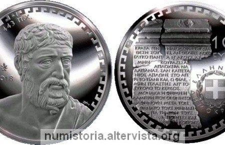 Grecia, 10 euro 2018 per Pindaro