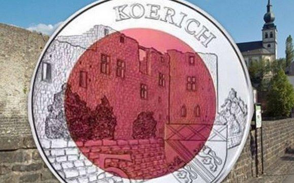 Lussemburgo, 5 euro 2018 per il castello di Koerich