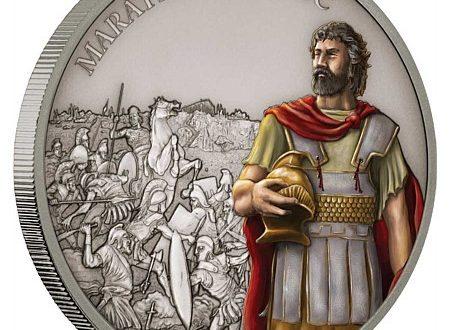 Niue, una moneta per la battaglia di Maratona