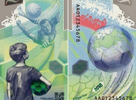 Russia, banconota per i mondiali di calcio 2018