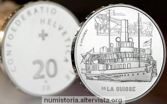 Svizzera, 20 franchi 2018 per il battello La Suisse