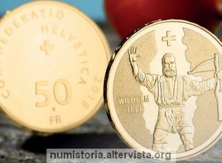 Svizzera, 50 franchi 2018 per Guglielmo Tell