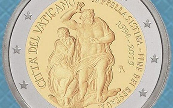 Vaticano, 2 euro commemorativo 2019 per la Sistina