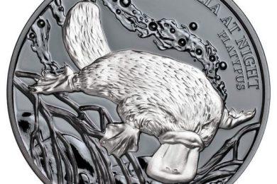 Niue, un'oncia d'argento per l'ornitorinco