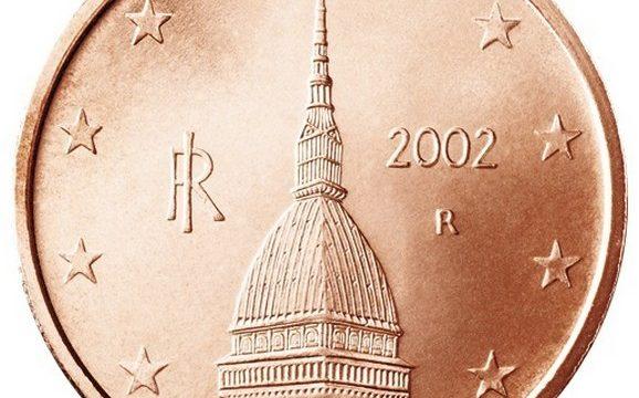 La moneta italiana da 2 centesimi