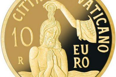 Vaticano, 10 euro 2018 per il Battesimo