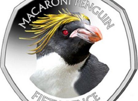 Falkland, 50 pence 2018 per il pinguino fronte dorata