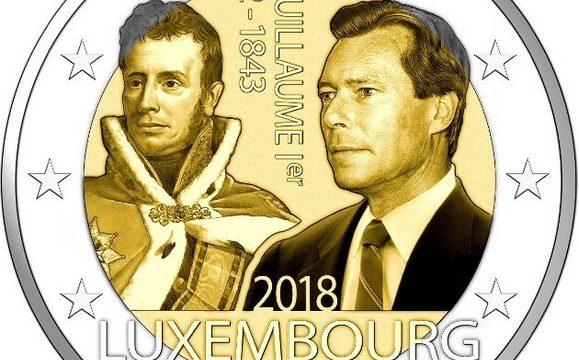 Lussemburgo, 2 euro commemorativo 2018 per Guglielmo I