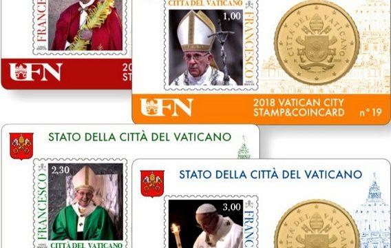 Vaticano, ecco le quattro stamp&coincard 2018