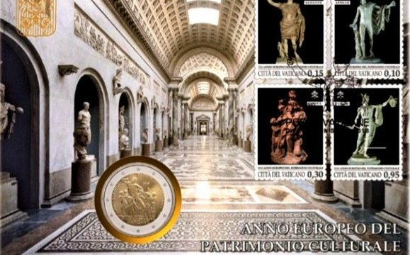 Vaticano, busta filatelico-numismatica 2018