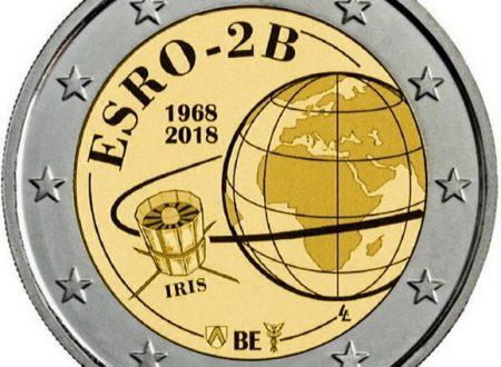 Belgio, 2 euro commemorativo 2018 per il satellite ESRO-2B