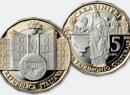 Italia, 5 euro 2019 Carabinieri tutela patrimonio culturale