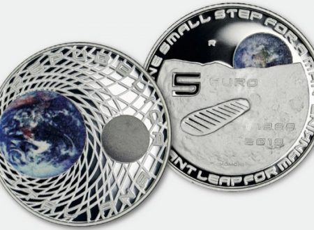 Italia, 5 euro 2019 per lo sbarco sulla luna