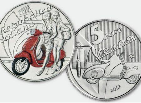 Italia, 5 euro 2019 per la Vespa