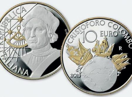 Italia, 10 euro 2019 per Cristoforo Colombo