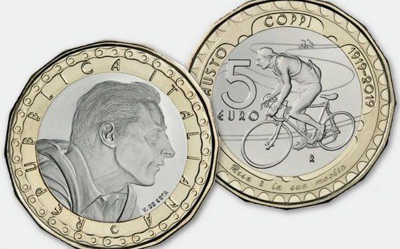 Italia, 5 euro 2019 per Fausto Coppi