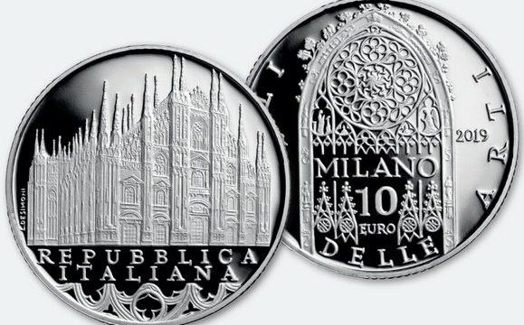 Italia, 10 euro 2019 per il duomo di Milano