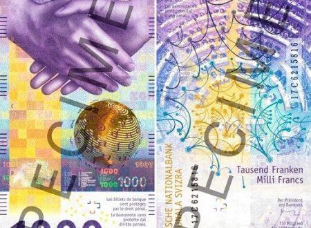 Svizzera, arriva la banconota da 1.000 franchi