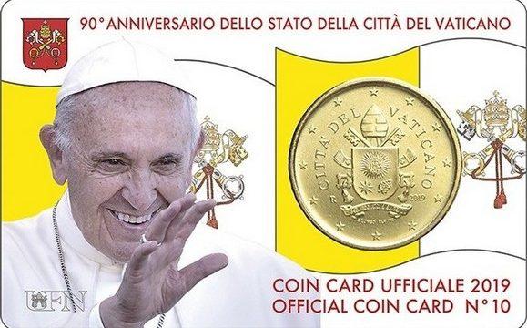 Vaticano, ecco la coincard 2019